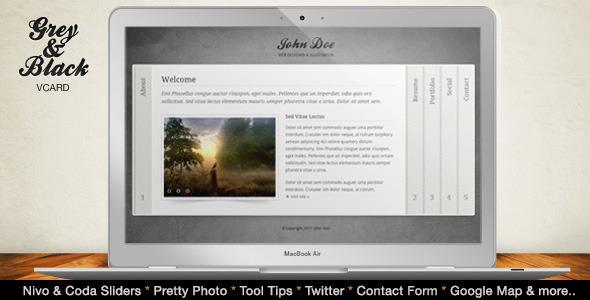 ThemeForest Grey & Black - Stylish Online vCard Html Template -Rip