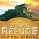 A Strong Refuge Revival Service Flyer and CD  - GraphicRiver Item for Sale