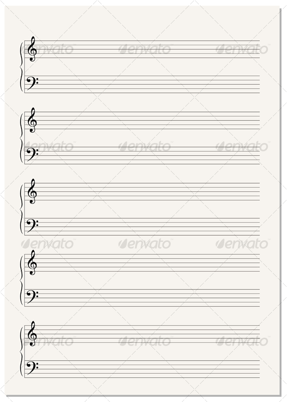 GraphicRiver Music Notation Paper Sheet 89162