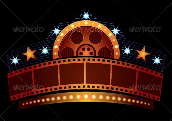 GraphicRiver Cinema neon 89163