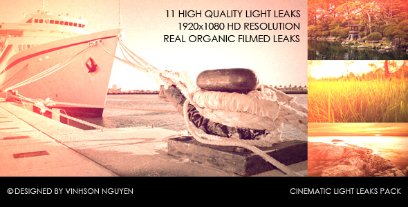 VideoHive Cinematic Light Leaks Pack 2429741