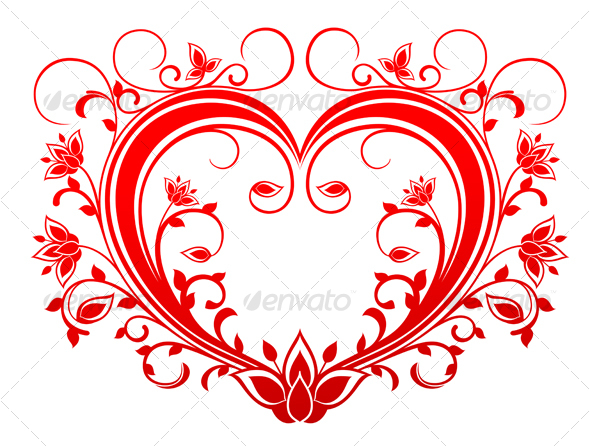 GraphicRiver Red valentine heart 89165