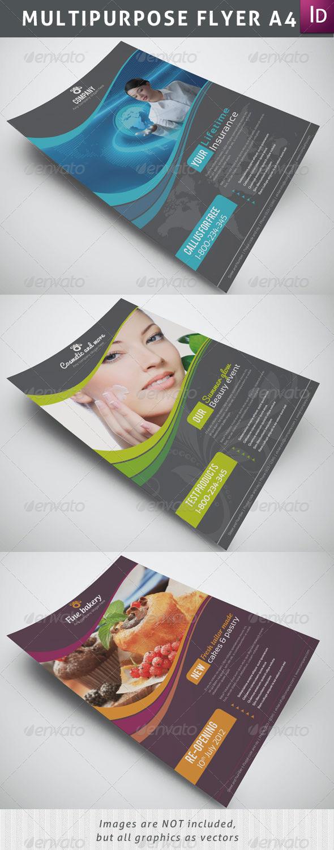 GraphicRiver Multipurpose Flyer A4 2435459