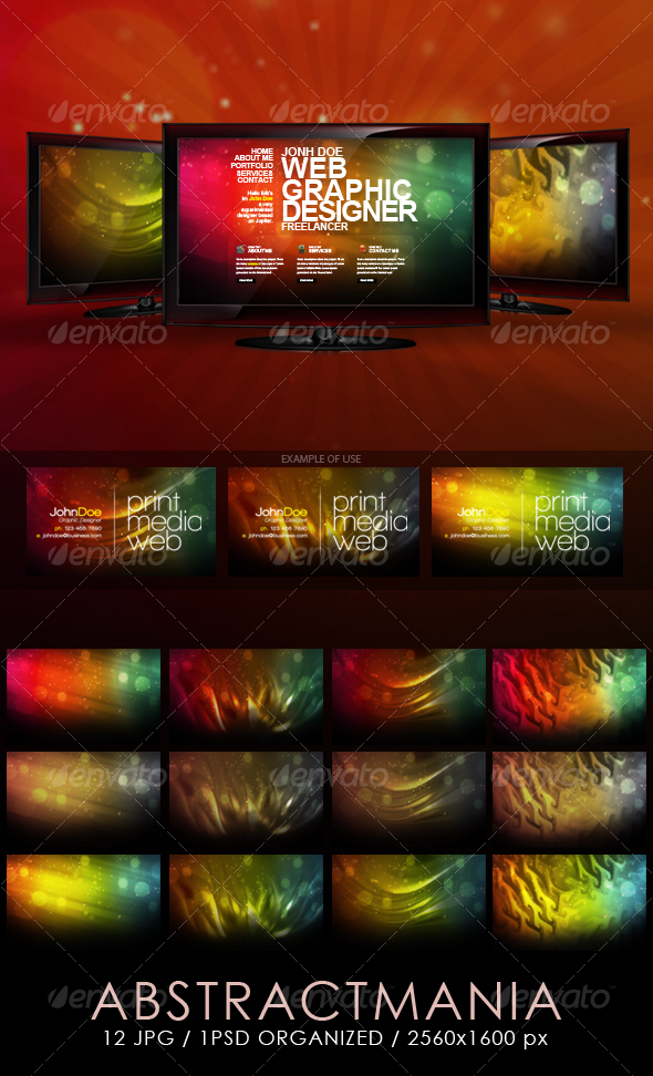 GraphicRiver Abstract Mania Backgrounds 89399