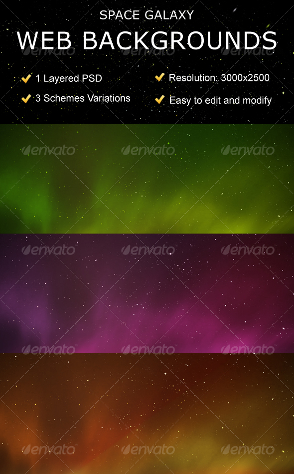GraphicRiver Space Galaxy Web Backgrounds 89422
