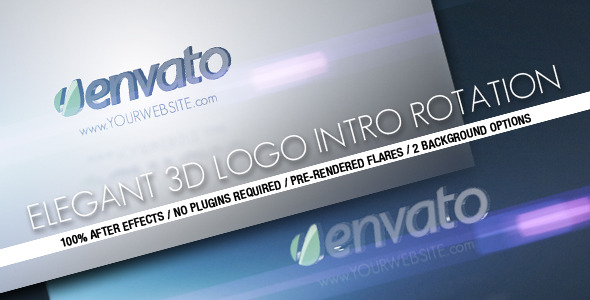 After Effects Project - VideoHive Elegant 3D Logo Intro Rotation 2439861