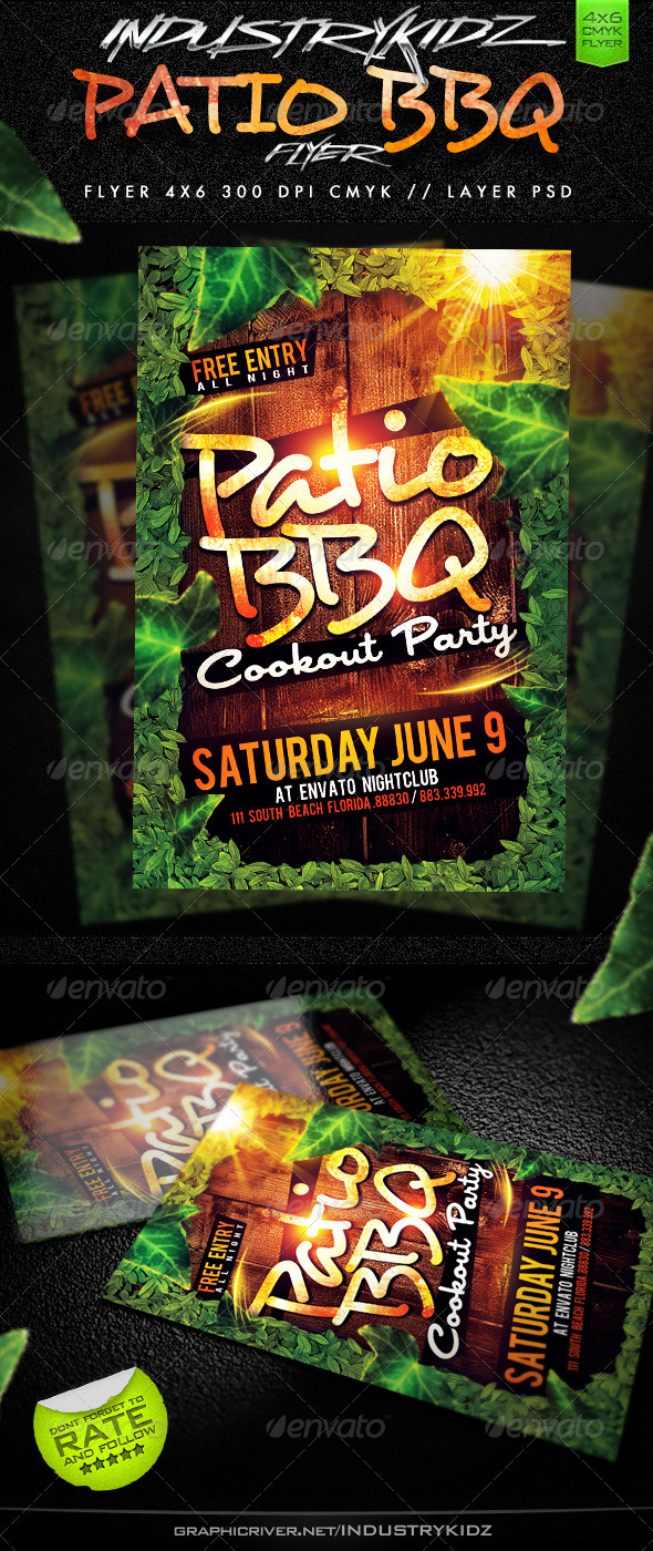 GraphicRiver Patio BBQ Party Flyer 2445326