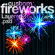 Custom Fireworks Layered PSD Graphics - GraphicRiver Item for Sale