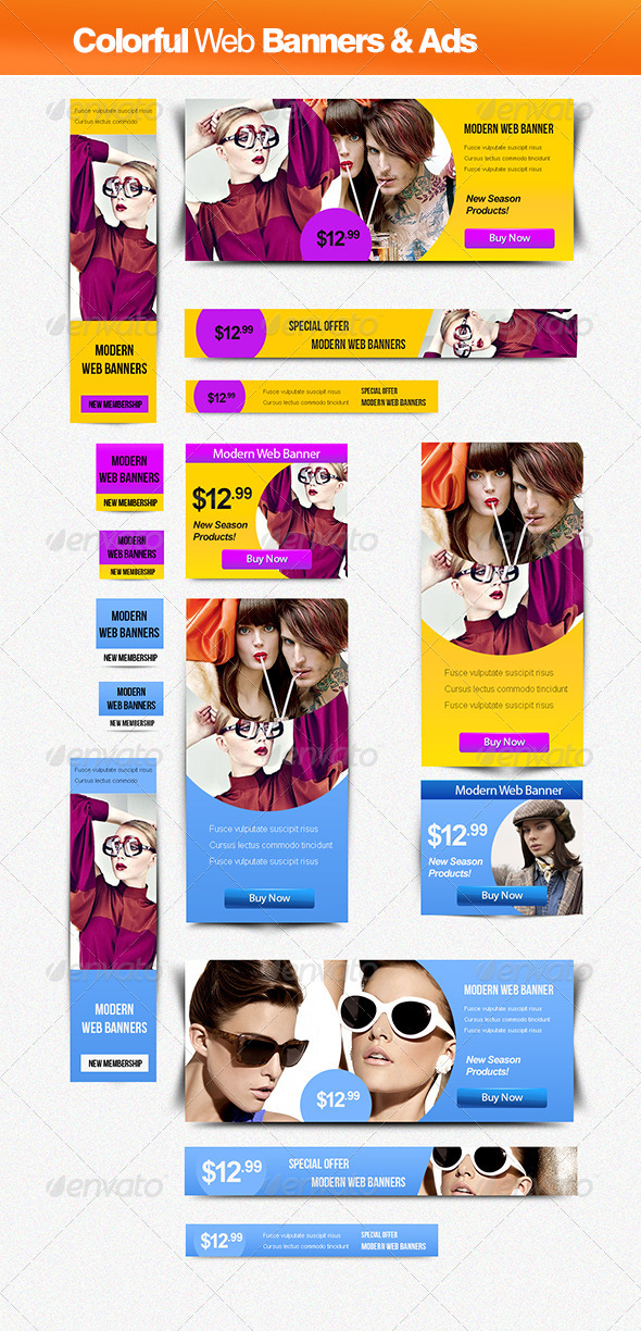 GraphicRiver Colorful Banner & Ads 2449905
