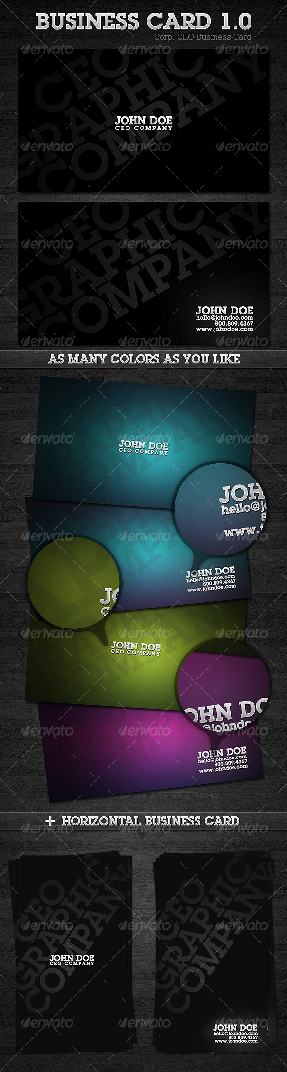 GraphicRiver Corp CEO Business Card 1.0 78417