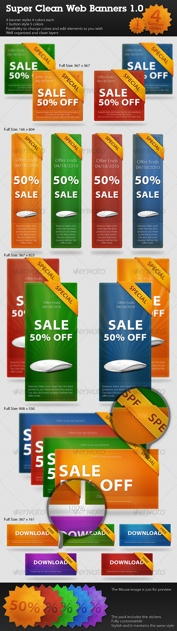 GraphicRiver Super Clean Web Banners Web Boxes 1.0 89903