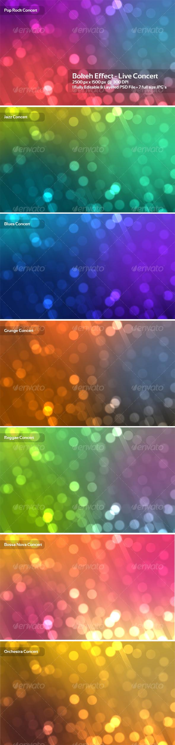 GraphicRiver Bokeh Effect Live Concert 89970