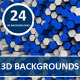 Hexagon 3D Backgrounds - GraphicRiver Item for Sale