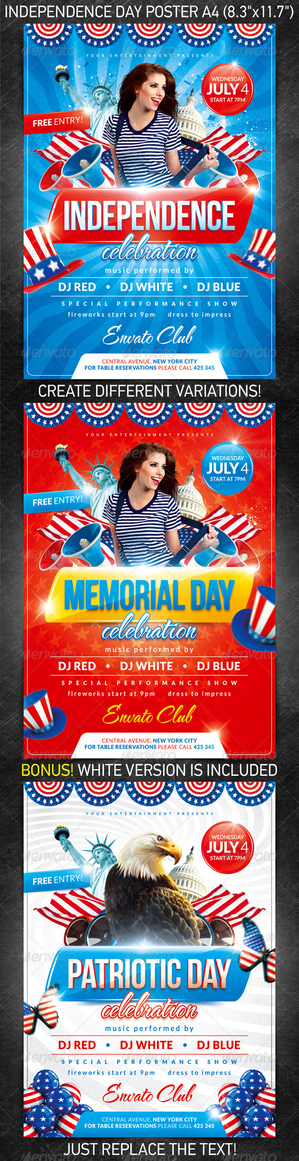 GraphicRiver Independence day party poster 2457967