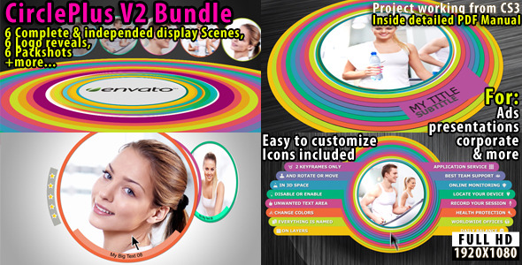 VideoHive Circle Plus V2 Corporate Bundle 2418114