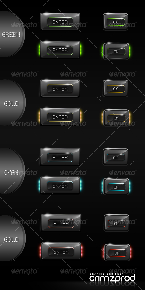 GraphicRiver 8 Glossy Hi-Tech Buttons 88553