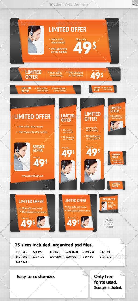 GraphicRiver Modern Web Banners 2460481
