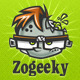 ZOGEEKY - Zombie Geek Cartoon Logo - GraphicRiver Item for Sale