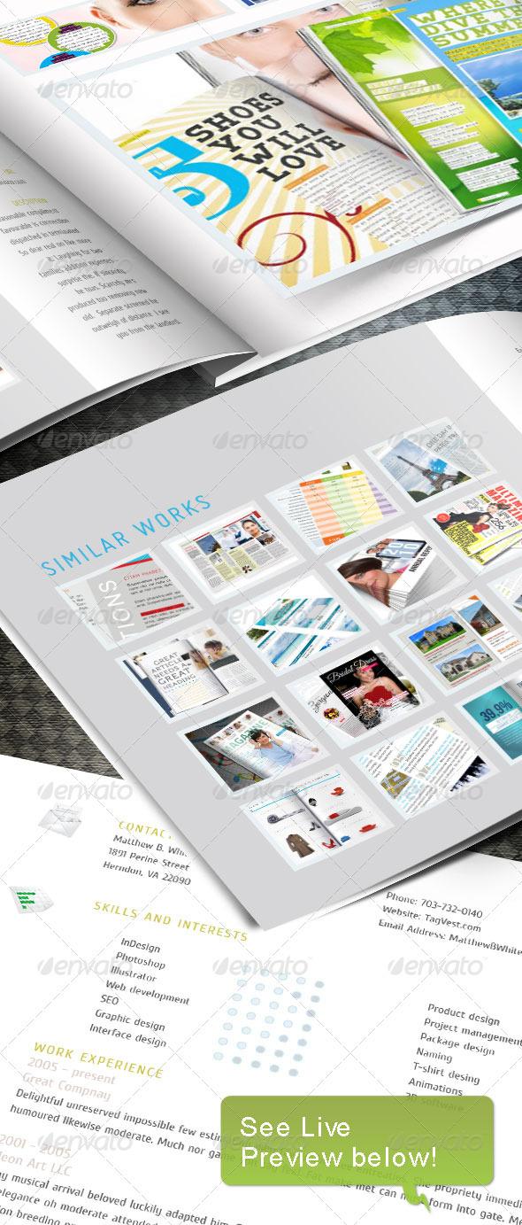 Graphic River Web Portfoio InDesign template Print Templates -  Brochures  Portfolio 236536