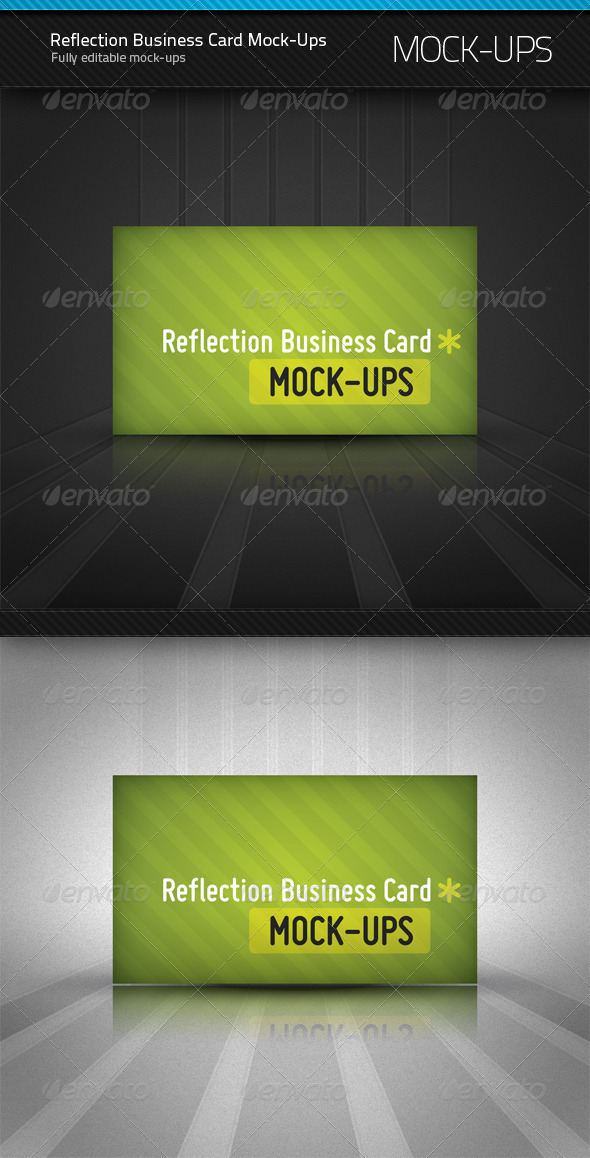 GraphicRiver Reflection Business Card Mockup 154427
