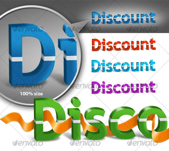 GraphicRiver 3D Discount Text 87091