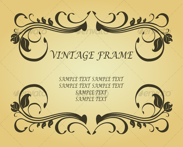 GraphicRiver Vintage frame in victorian style 90427