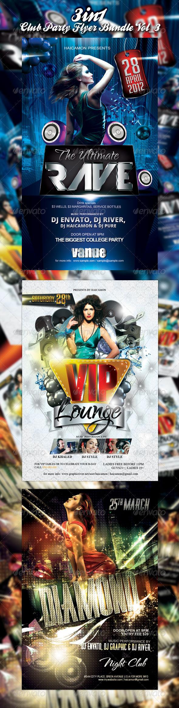 GraphicRiver Club Event Party Flyer Bundle Vol 3 2339318