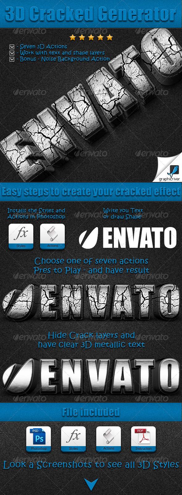 GraphicRiver 3D Cracked Generator 2473703