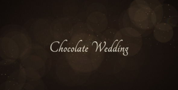 After Effects Project - VideoHive Chocolate Wedding 2473936