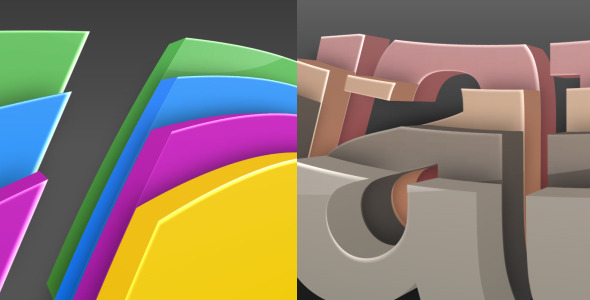 VideoHive 3D Colorize Logo Reveal 2474135