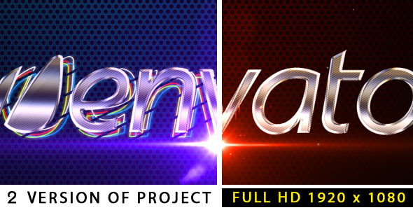 After Effects Project - VideoHive Metalic logo 2480037