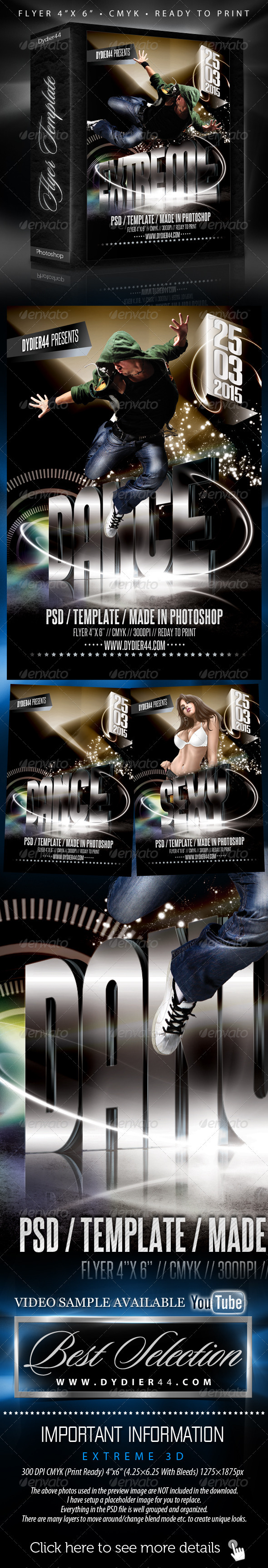 GraphicRiver Extreme 3D Flyer Template 4x6 176936