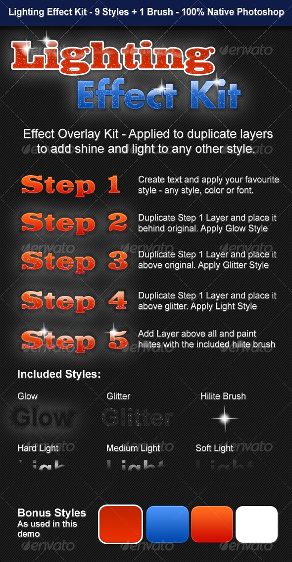 GraphicRiver Lighting Effect Kit 90903