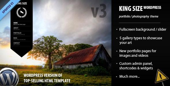 ThemeForest - King Size - fullscreen background WordPress theme v.3