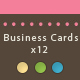 12 Elegant business cards 2 different formats! - GraphicRiver Item for Sale