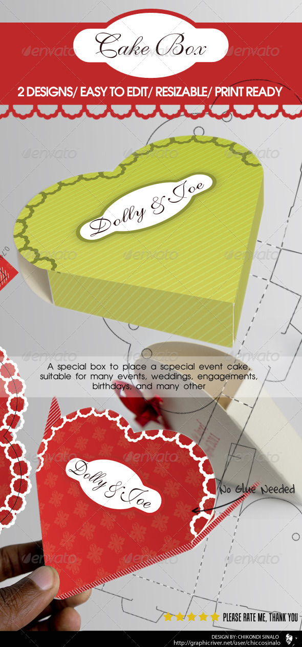 GraphicRiver Cake Box Packaging 2448256