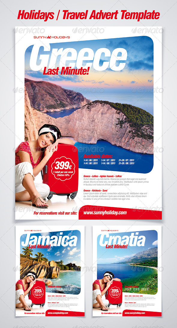 GraphicRiver Holidays & Travel Advert Poster 278871