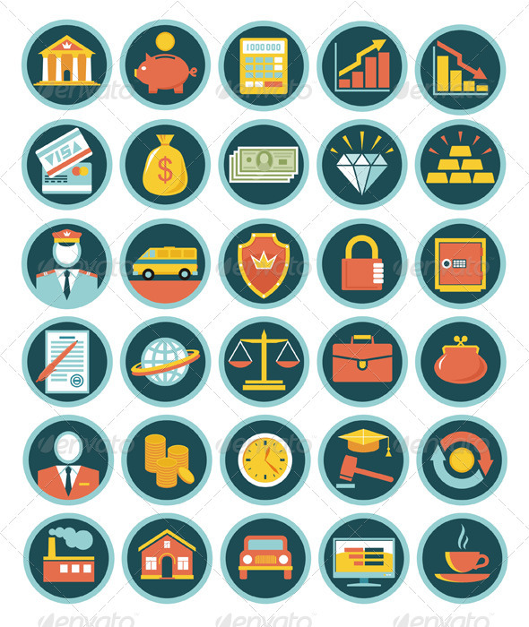 GraphicRiver Finance 30 Icons 2487734