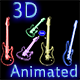 3D Animated Wireframe Electric Guitar Pack - 5 Pie - ActiveDen Item for Sale