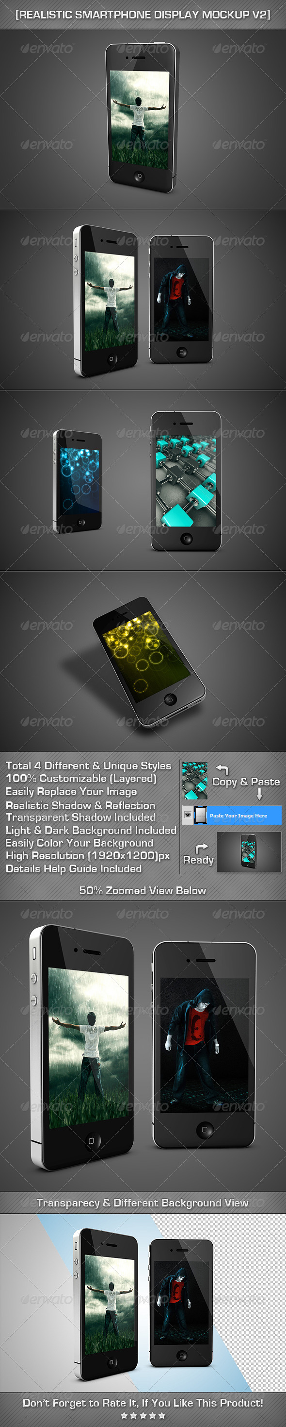GraphicRiver Realistic SmartPhone Display MockUp V2 2488200