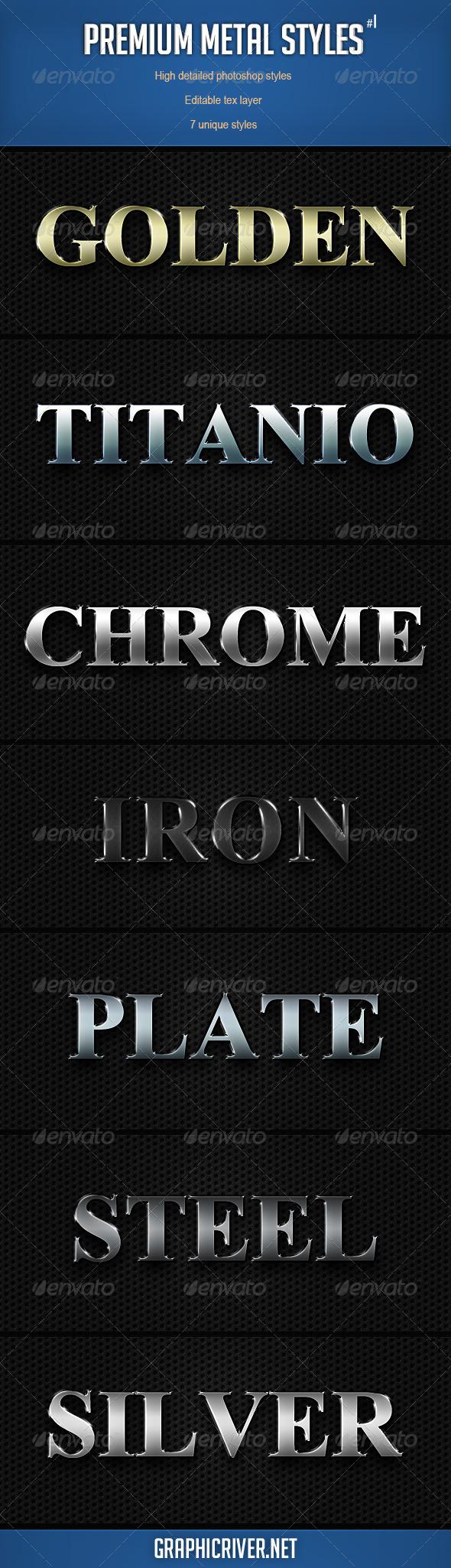GraphicRiver Premium Metal Styles 2488453