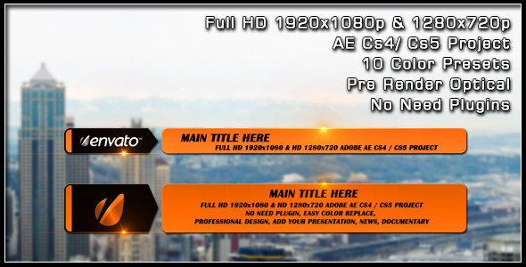 After Effects Project - VideoHive Slide Lower Third 2492212