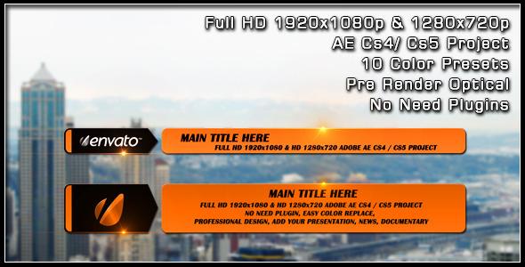 VideoHive Slide Lower Third 2492212