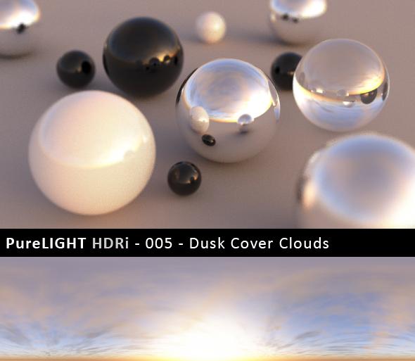 3DOcean PureLIGHT HDRi 005 Dusk Cover Clouds 91159