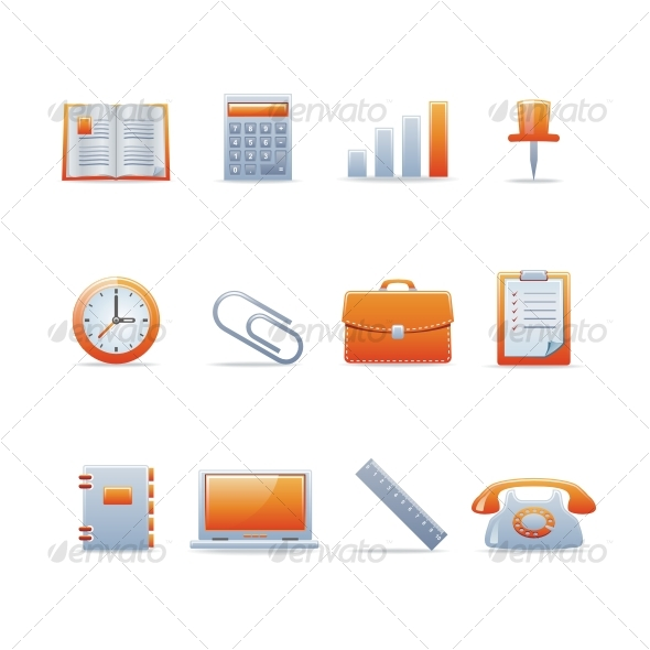 GraphicRiver Glossy icon set 2 91196
