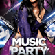 Music Party Flyer Template - GraphicRiver Item for Sale