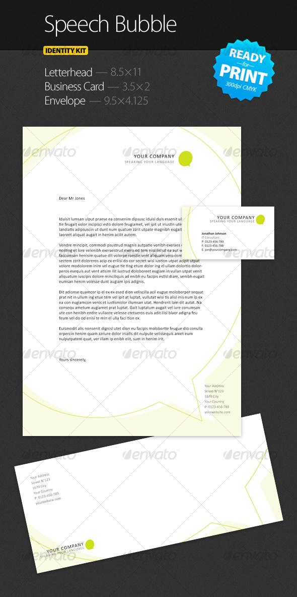 GraphicRiver Speech Bubble Identity Kit 91289