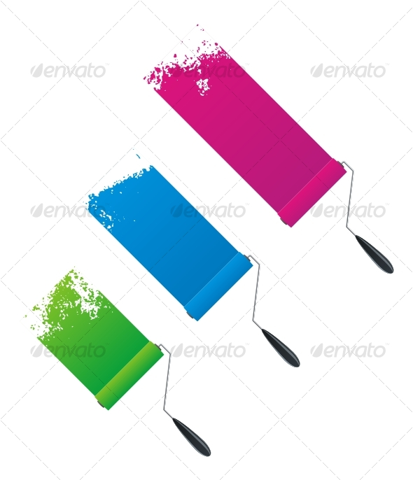 GraphicRiver Paint rollers 91377