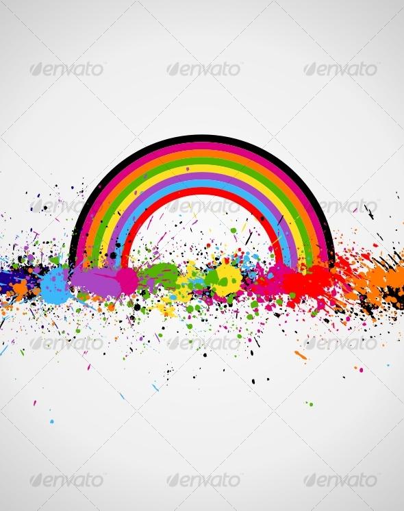 GraphicRiver Color paint splashes background 91379