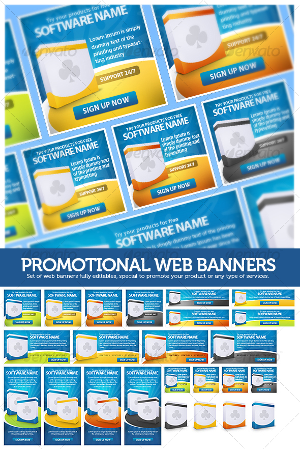 GraphicRiver Promotional Web Banners 91387